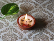 clay pot perfumed candles